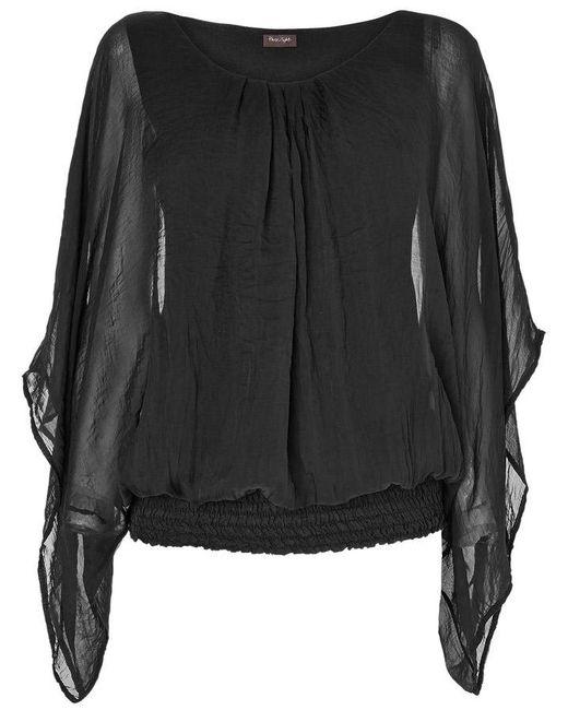 Phase Eight - Black Evangeline Silk Blouse - Lyst