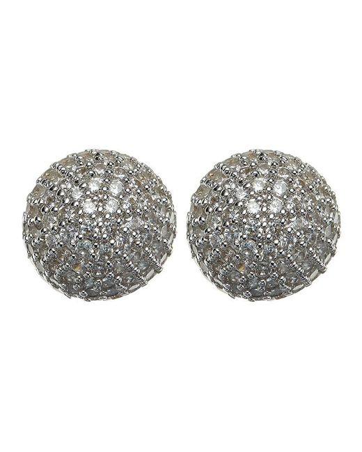 Phase Eight | Metallic Tara Cubic Zirconia Stud Earrings | Lyst