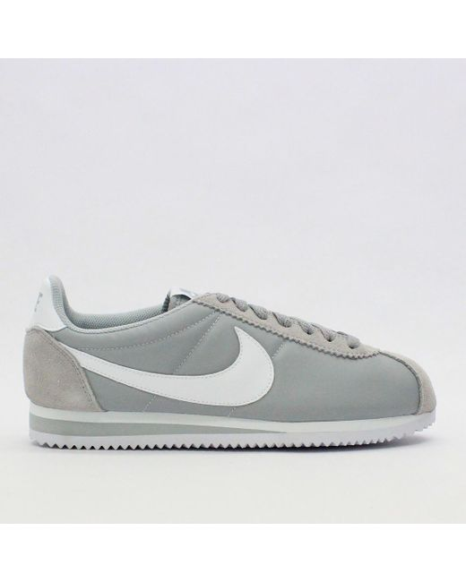 82825ce92d24a Nike Trainers - Gray Nike Classic Cortez Nylon Wolf Grey 807472 010 - Lyst  ...