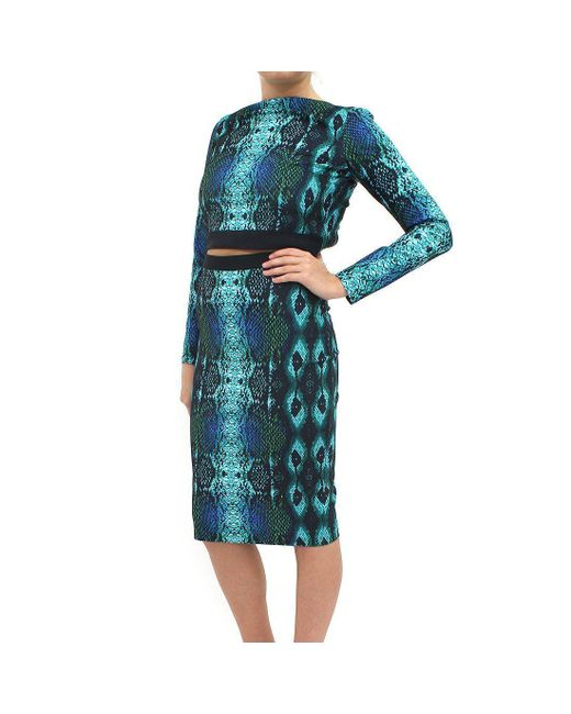 Forever Unique - Blue 2 Piece Snake Skirt Dress - Lyst