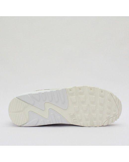 buy popular b3791 13da2 ... Nike Trainers - Nike Air Max 90 Premium Sail White 700155 102 - Lyst ...