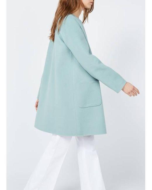 Gerard Darel Abrigo reversible de lana con cuello redondo de mujer de color azul