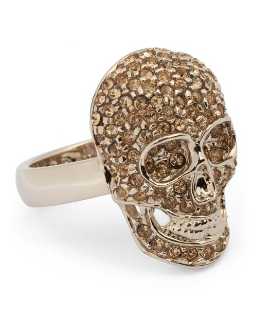 Philipp Plein | Metallic Embellished Skull Ring | Lyst