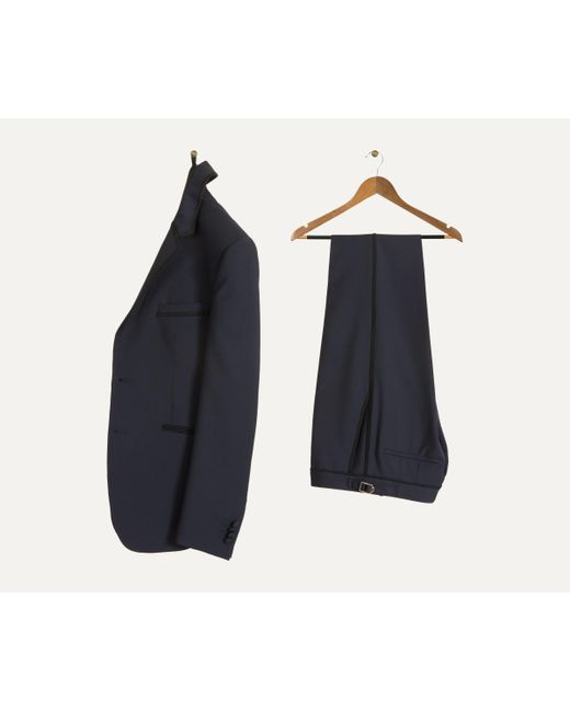 Paul Smith - Blue 'kensington' Dinner Suit With Braiding Trim Navy for Men - Lyst