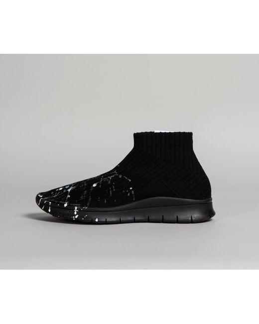 5b5ea0475a40 Maison Margiela - Paint Splatter Sock Sneakers Black for Men - Lyst ...