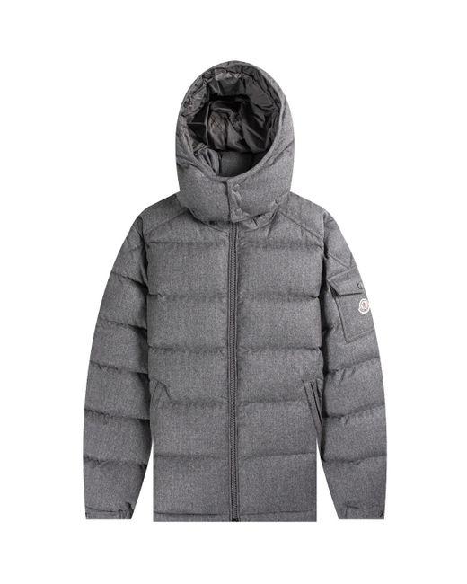 Moncler Gray 'montgenevre' Hooded Jacket Grey for men