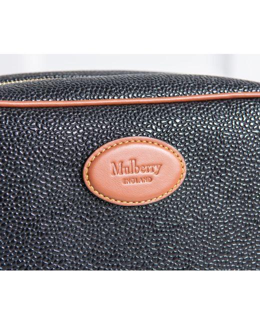 7928fd87fd5a ... germany mulberry scotchgrain wash bag black cognac for men lyst b1b02  d9490