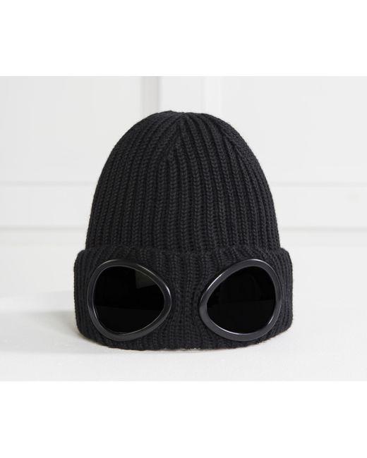 Ribbed Wool Goggle Beanie Navy C.P. Company Za4lck
