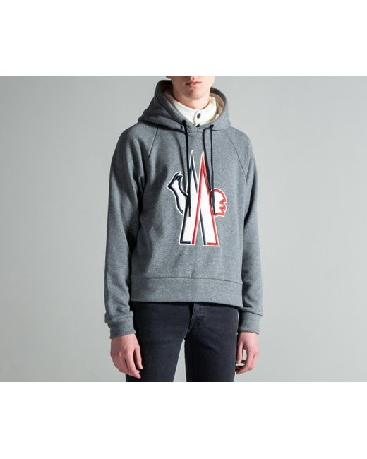 5993f0b7bfb7 Lyst - Moncler Grenoble Hooded Logo Sweatshirt With Down Inlay in ...