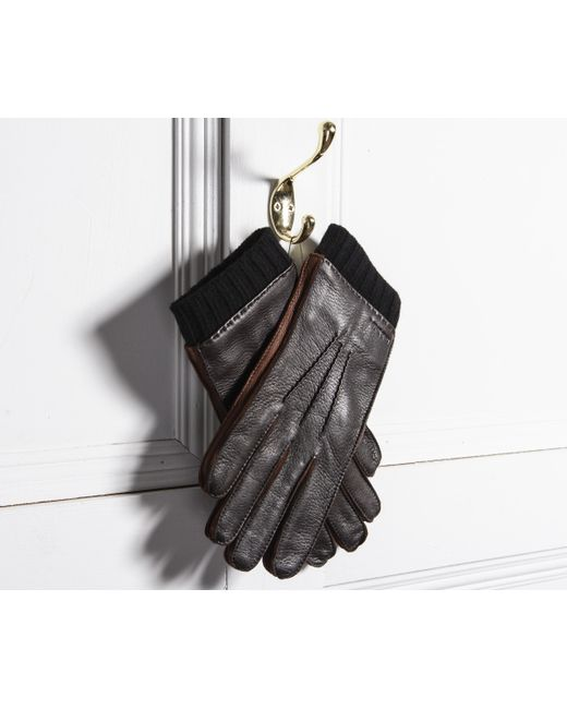 fdbca86b7a845 Paul Smith Deerskin Silk-cashmere Lined Gloves Brown in Brown for ...