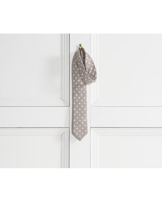 Canali - Multicolor Textured Linen/silk Polka Dot Tie Stone for Men - Lyst