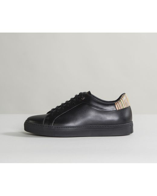 Paul Smith - 'basso' Trainers With Multi Stripe Heel Black for Men - Lyst