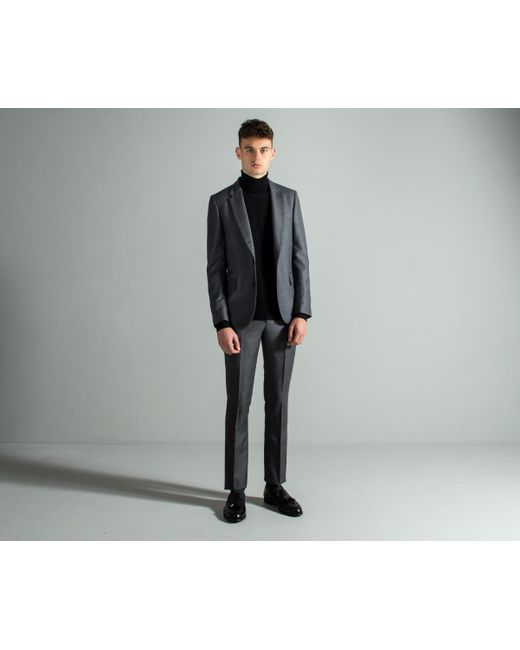 Paul Smith Gray Prince Of Wales Check Suit Charcoal for men