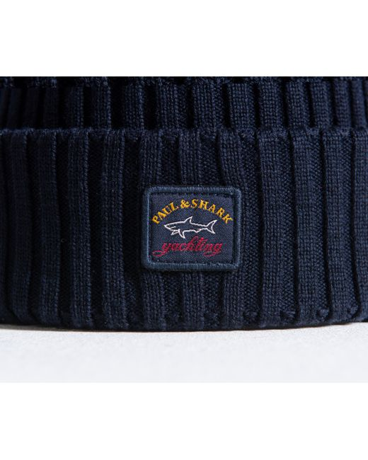 027ae4cced3e9 ... Men - Lyst Paul   Shark - Blue  water Shed  Beanie Navy for ...