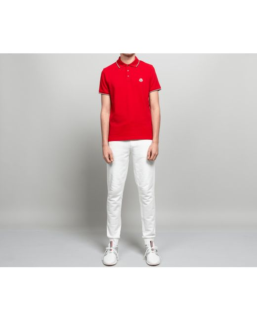 c22a2330bd21f Lyst - Moncler 3-button Polo Red in Red for Men