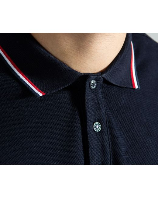 847124359387 Lyst - Moncler Slim Fit Classic Long Sleeved Polo Navy in Blue for Men