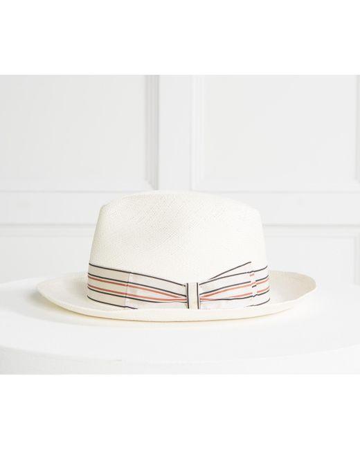 e0147370207 Borsalino - Natural  1101  Straw Panama Hat With Pin Stripe Band Cream for  Men ...