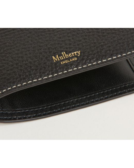 d4a71f96869c ... get mulberry leather passport travel wallet black for men lyst 7c97c  3a479