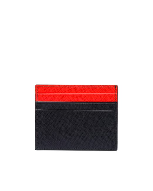 a5af29659c2f Lyst - Prada Saffiano Leather Card Holder in Red for Men - Save 8%