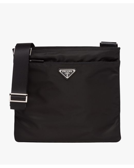 Prada - Black Fabric Shoulder Bag - Lyst