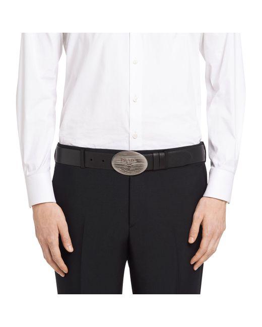 Prada - Multicolor Saffiano Cuir Leather Belt for Men - Lyst