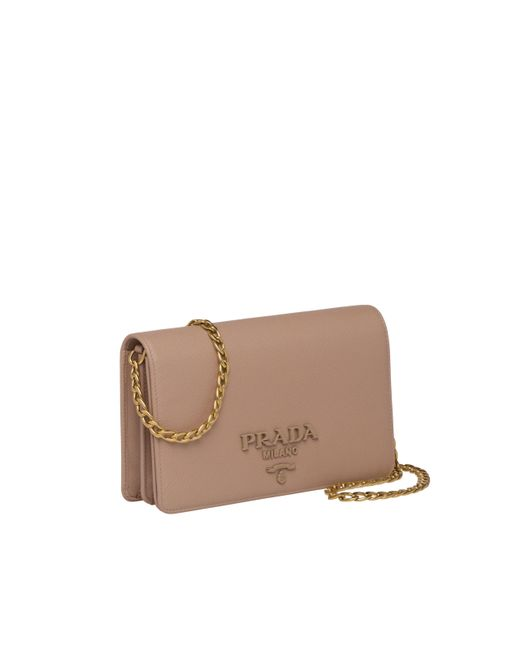 02b2dc16f55f ... Prada - Multicolor Saffiano Leather Shoulder Bag - Lyst ...
