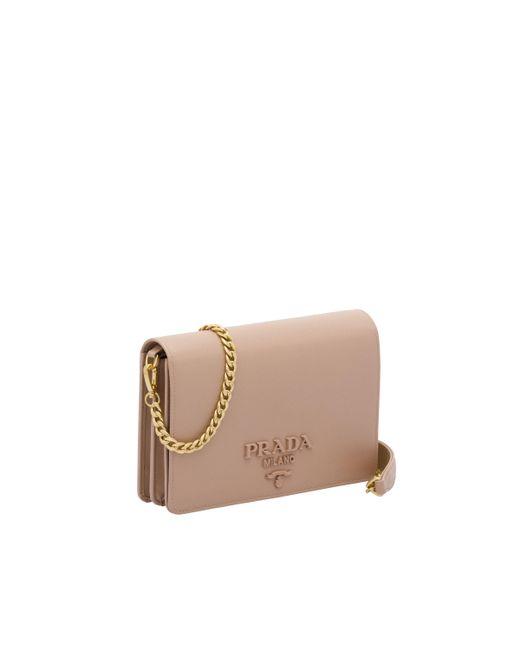 ced95e2495d52 ... Prada - Multicolor Saffiano Leather Shoulder Bag - Lyst ...