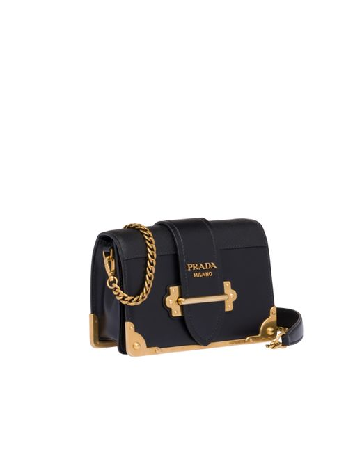35ece751c97f ... Prada - Black Cahier Calf Leather Bag - Lyst ...