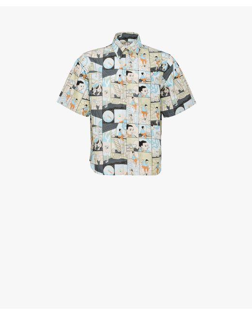 Prada - Natural Printed Cotton Shirt for Men - Lyst