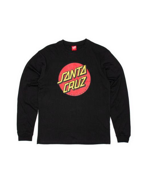Santa Cruz Black Classic Dot Longsleeve T-shirt for men