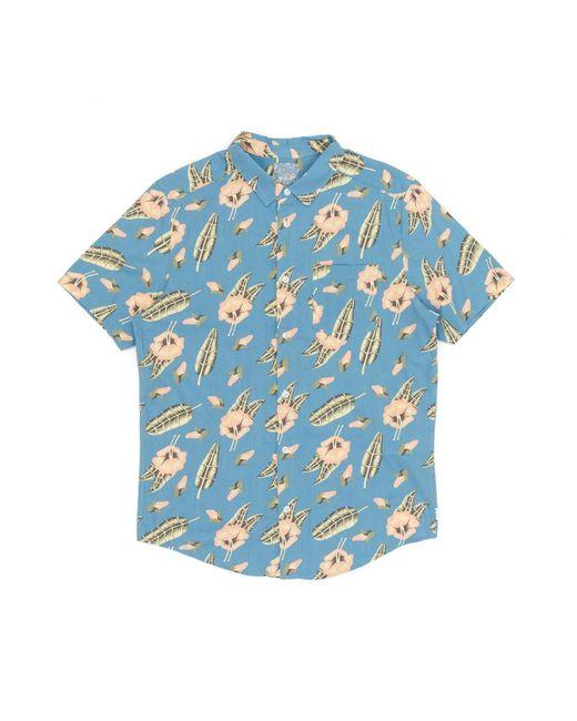 RVCA - Blue Pelletier Tropic Short Sleeved Shirt for Men - Lyst
