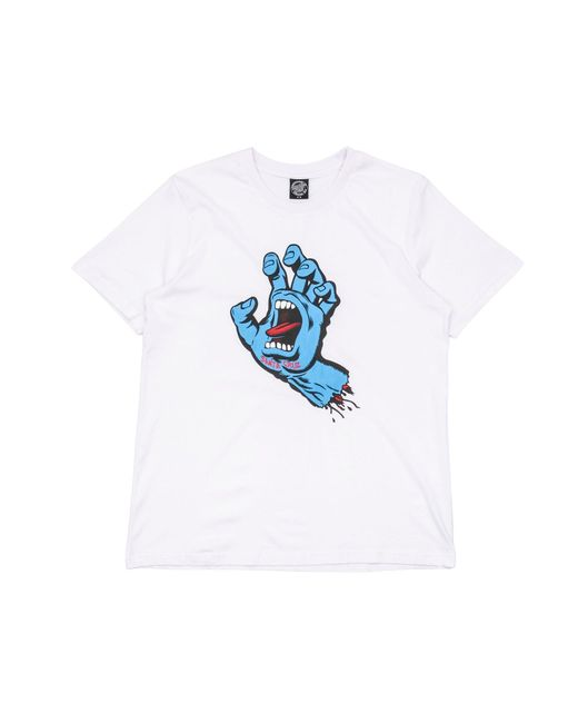 Santa Cruz White Womens Screaming Hand T-shirt for men