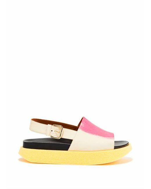 Sandales à plateforme Marni en coloris Multicolor