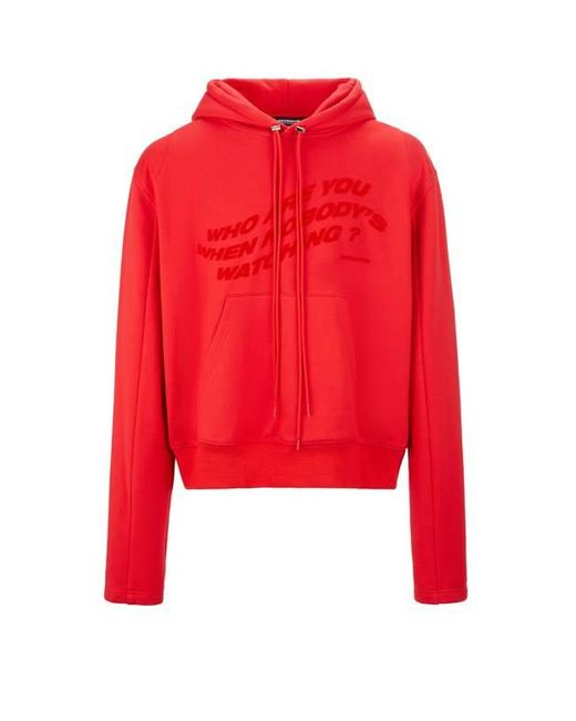 Sweatshirt avec capuche en coton Antidote en coloris Red