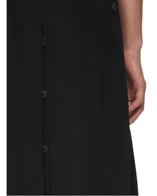 Short jupe ample Yohji Yamamoto pour homme en coloris Black