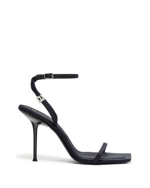 Sandales à détail strass Alexander Wang en coloris Black