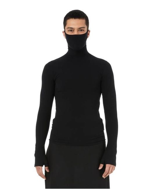 Top col roulé Mask Balenciaga pour homme en coloris Black