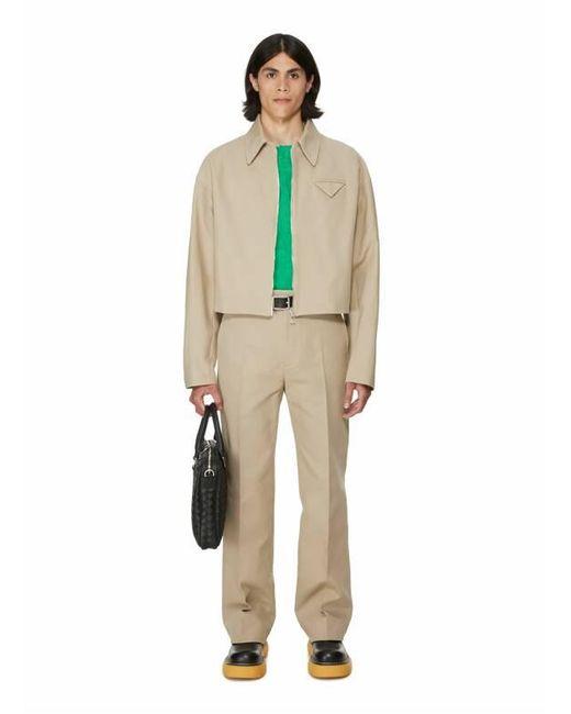 Veste droite en toile de coton Bottega Veneta pour homme en coloris Natural