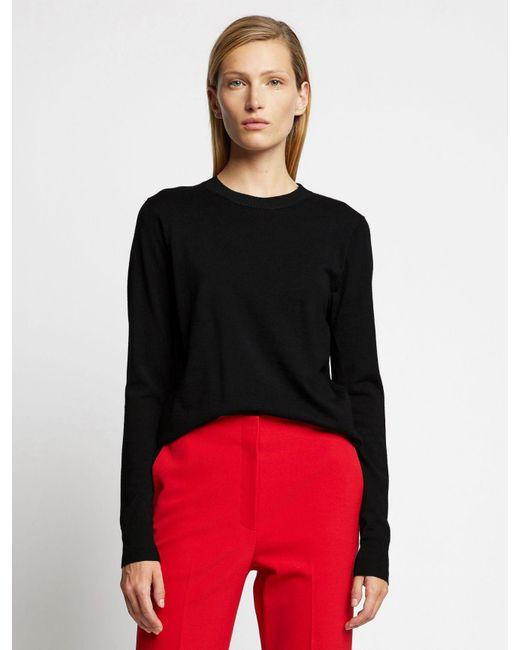 Proenza Schouler Black Lightweight Merino Crewneck Sweater