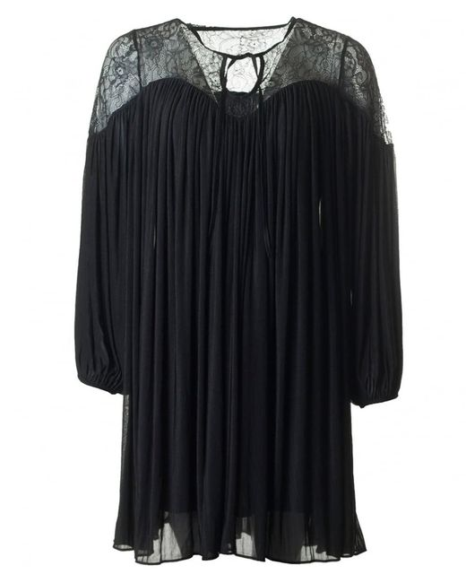 French Connection - Black Lassia Lace Jersey Dress - Lyst