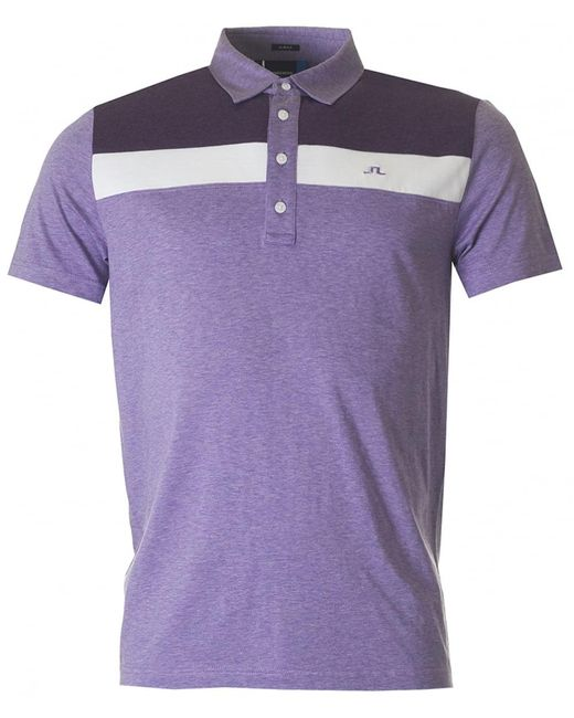 J.Lindeberg | Purple M Cory Lux Jersey Polo for Men | Lyst