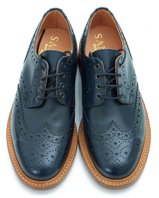 Sanders Bruno Brogue Gibson Shoes In Blue For Men Lyst