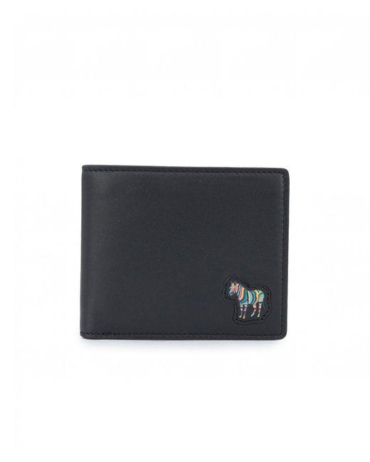 Paul Smith - Black Zebra Leather Billfold Wallet for Men - Lyst