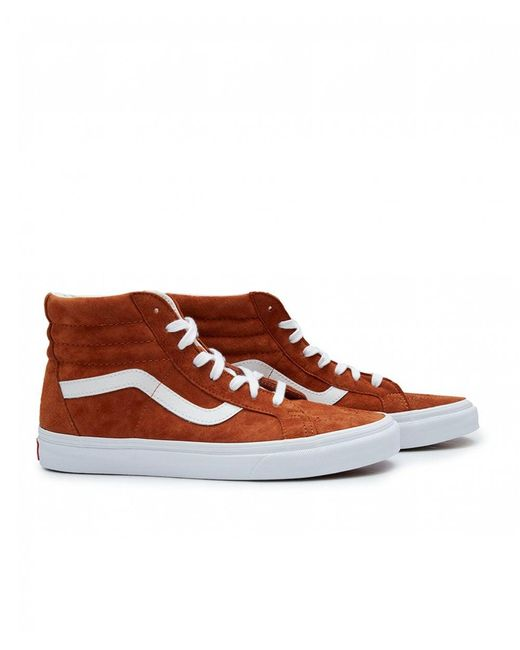 7603fbad46 Lyst - Vans Skate Hi Re-issue Suede Trainers in Brown for Men