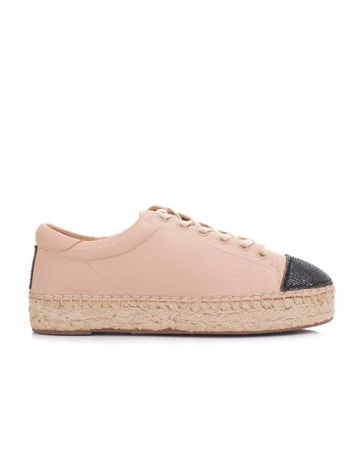 Kendall + Kylie - Multicolor Sequin Toe Lace Up Leather Espadrilles - Lyst