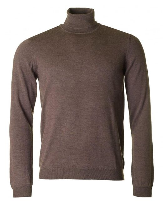 J.Lindeberg - Brown Lyd Roll Neck Merino Knit for Men - Lyst