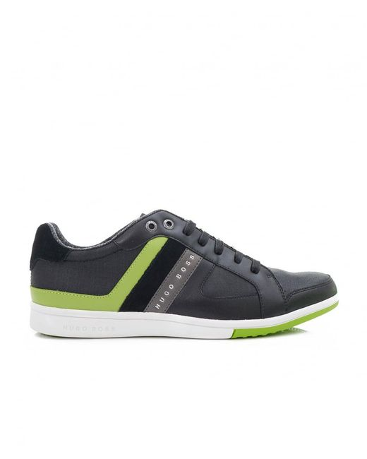 BOSS | Black Metro 10 Cup Sole Leather Trainers for Men | Lyst