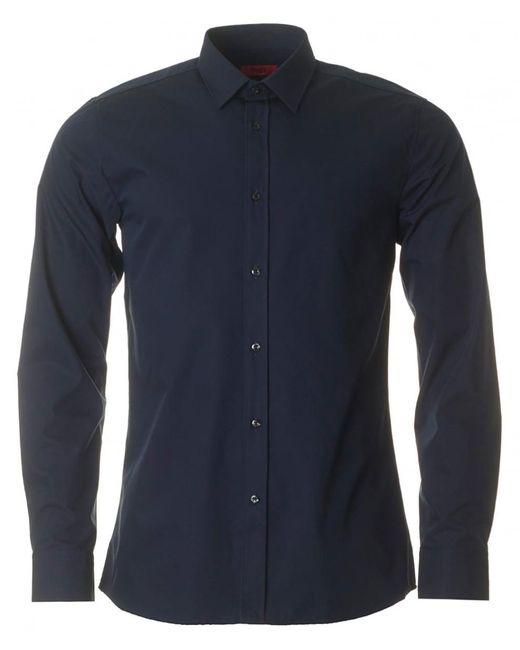 HUGO - Blue Elisha Slim Fit Shirt for Men - Lyst