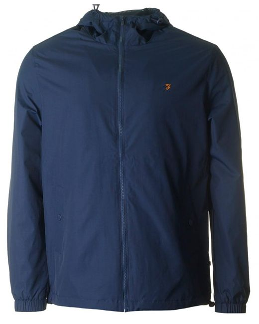 Farah - Blue Smith Zip Through Hooded Jacket for Men - Lyst
