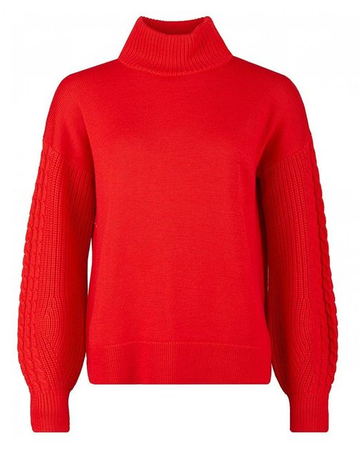 HUGO - Red Sonaly Cable Arm Knit - Lyst